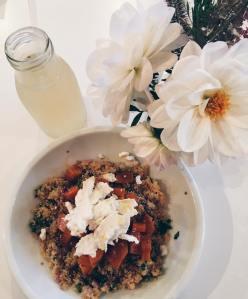 salade butternut, chèvre, quinoa